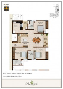 2 and 3 BHK apartments on Avinashi Road