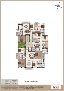 Srivari Diya - Typical Floor Plan